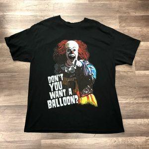 IT Pennywise Horror Movie Promo tshirt